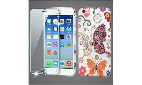 Design Leather Back Case Skin with Tempered Glass Film For iPhone 6 and 6s 20bc1b2d-faf5-442d-875c-ce4bb23a051a