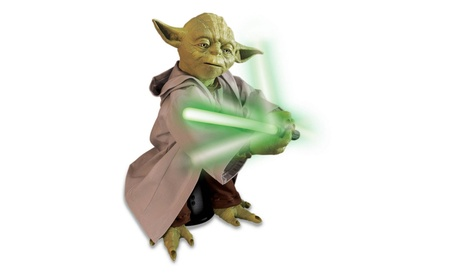 Star Wars Legendary Jedi Master Yoda w/Lightsaber Figure Moves Talks 0c85e542-f00d-4540-989b-68870cbdb922