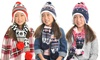 Kids Winter-Weight Knitted Beanie and Scarf Set (6-Piece): Kids Winter-Weight Knitted Beanie and Scarf Set (6-Piece)