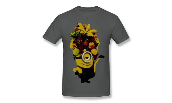 3T-Tshirt: Men's Despicable Me Minion Made Minion Fruit Hat Boyfriend T-shirts