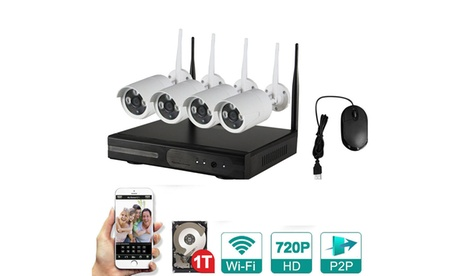 4CH Wifi 1080P NVR HD WIFI IP IR Camera Security System /W 1TB HDD