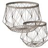 Grey Wire Basket - Set of 2