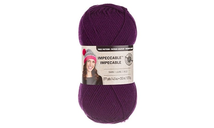 Loops Threads Impeccable Yarn 45 Oz One Ball Amethyst Groupon