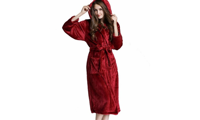 3d46e7aea315 Up To 59% Off on Womens Full Length Hooded Plu... | Groupon Goods