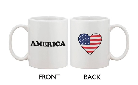 American Flag Design Coffee Mug Bold Statement American Flag Heart deb0773a-c73b-4a56-a942-58655d23d486
