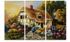 Fairy House Oil Painting - Landscape Painting Metal Wall Art