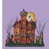 """17.5"""" Battery LED Lighted Spooky Glittered Halloween House Decoration"""