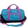 Wildkin Big Dot Aqua Duffel Bag Purple