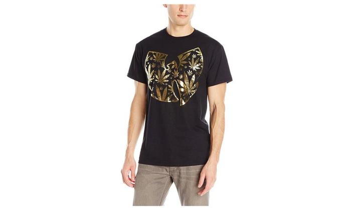 b38117e0e939 Men's Wu-Tang Clan Pot Leaf Logo T-Shirt   Groupon