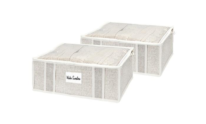 Groupon Goods: Simplify 2-Piece Sweater Storage Bag Set