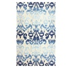 nuLOOM Ikat Transitional Hand Made Area Rug, Blue