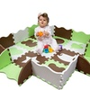 Non-Toxic Extra Thick Foam Play Mat for Tummy Time and Crawling