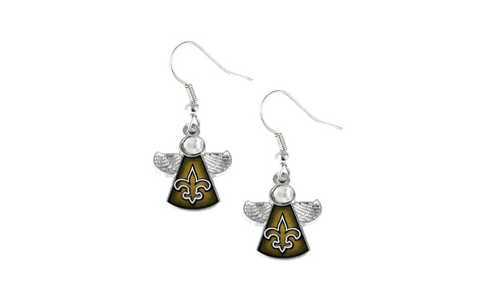 NFL Crystal Angel Earrings