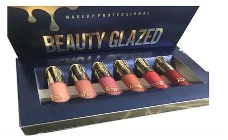 Beauty Glazed 6pcs/set Makeup Matte Not Faded Lipstick Lip Kit 56a6b77d-24c5-4a6a-a27b-f7c2b69bb742
