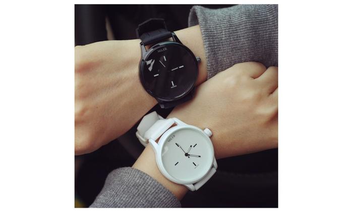 Original MILER Brand Soft Silicone Strap Jelly Quartz Watch Wristwatch