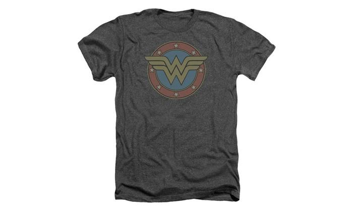 Rying Men's DC Comics Wonder Woman Vintage Emblem Mens Heather Shirt