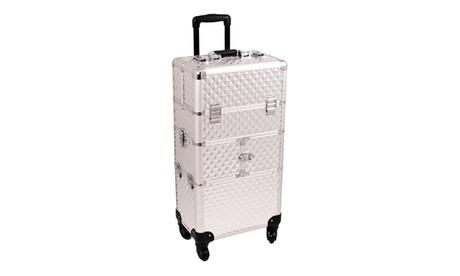Sunrise Outdoor Travel Silver Diamond Trolley Makeup Case - I3564 037ce351-0563-4f8e-b4fe-3d591bc977be