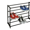 Sunbeam 12-Pair Shoe Rack, Black
