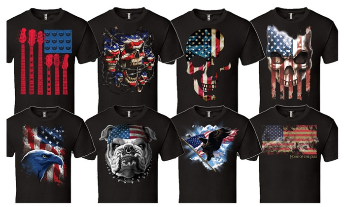 Gr8dealS: American Flag Patriotic 'Merica Design Men's T-Shirt