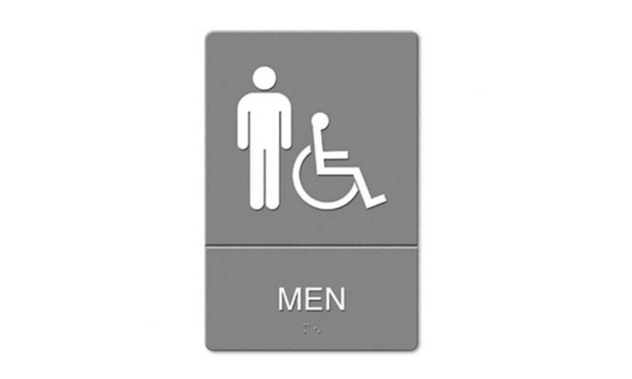 us stamp 4815 ada restroom sign men wheelchair accessible symbol