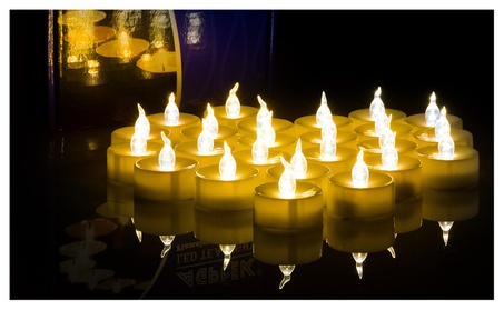 100x LED Tealight Candles Battery Operated Flameless Flickering Amber e3bdeb27-39c8-417a-912c-9079d343173f