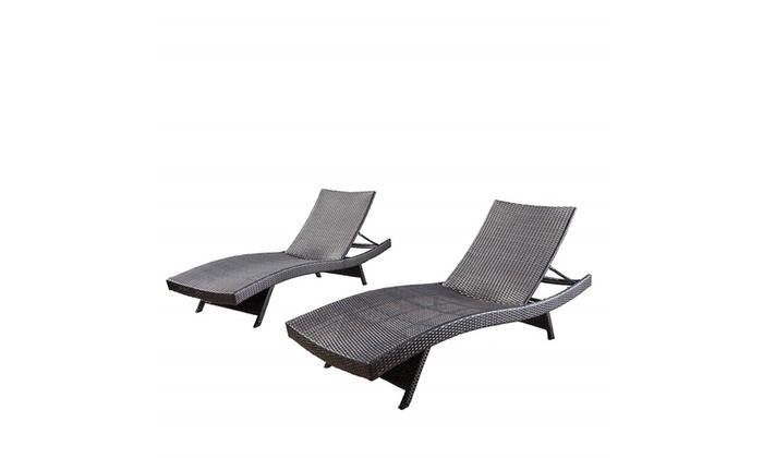 Grey Lakeport Patio Furniture ~ Outdoor Wicker Adjustable Folding Table