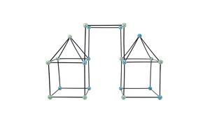 Construction Fort Building Toy Set (60-Piece)