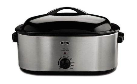 Oster Quart Roaster Oven with Self-Basting Lid, Stainless Steel Finish photo