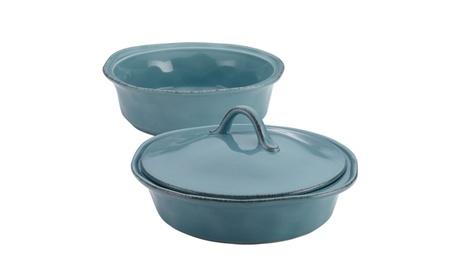 Rachael Ray Cucina Stoneware 3pc Round Casserole & Lid Set 6a622f1b-dfa5-497e-8826-3429b7f7d401