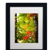 Philippe Sainte-Laudy 'Oak Leaves' Matted Black Framed Art