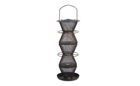 Wild Bird Feeder 5 Tier Bronze 5 lbs Capacity Seed Premium Material (Goods Pet Supplies Bird Supplies) photo