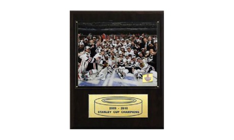 "NHL 12""x15"" Chicago Blackhawks 2010 Stanley Cup Celebration Plaque 3ccd57ce-0231-4733-af63-8cab5b1f61e8"