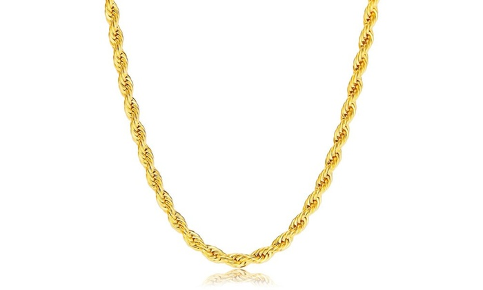 bbf02bcb3 Up To 81% Off on Moricci 10K Gold Chain Necklace | Groupon Goods