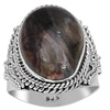Orchid Jewelry Sterling Silver 10-1/4 Carat Sugilite Solitaire Ring