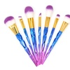 7 Pcs Colorful Diamonds Makeup Brushes Makeup Tool Brush Set Gift