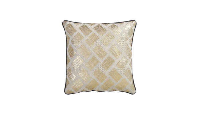 Jcpenney Gold Decorative Pillows : Samyra Gold Foiled Printed 18