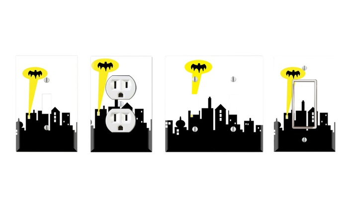 Toggle/Rocker Switch/Outlet Cover Decor Wall Plates – Batman Gotham