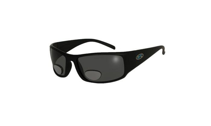BlueWater Black Polarized Grey Lens Bifocals 2.0 Sunglasses