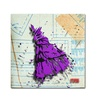Roderick Stevens Shoulder Dress Purple n Black Canvas Print