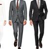 Verno Men's Slim-Fit Notch Lapel Suits (2-Piece)