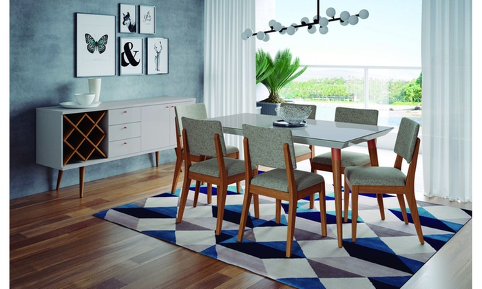 7 Piece Utopia 6299 And Dover Dining Set Groupon