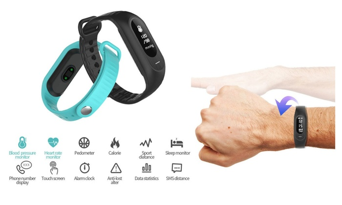 Chique Clinic: Smart Bracelet Blood Pressure Heart Rate Fatigue State Tracker