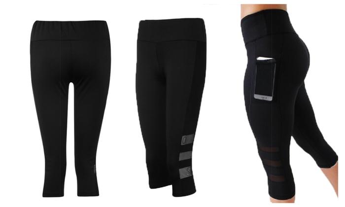 5d320b13c7bb5 Women's Skinny Capri Yoga Pants with Pockets - Fitness | Groupon