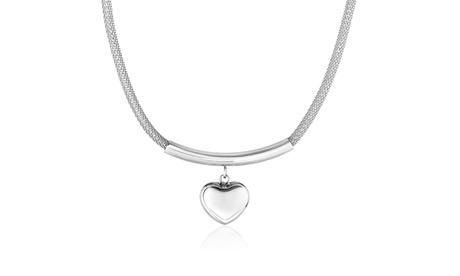 High Polish Hollow Heart Stainless Steel Pendant Necklace 2893e0e0-ea09-4a31-8d26-8b3ad68f7ed2