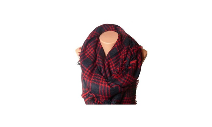 Large Red Square Fashion Scarf Shoulder Accessorize
