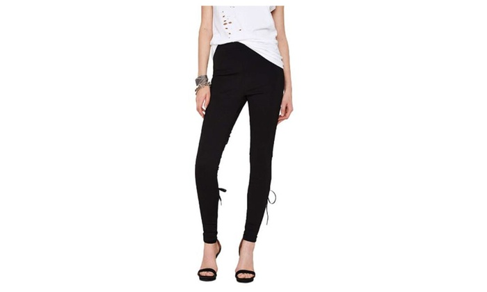 Women's/Ladies Casual Simple Insulation Long Slim Fit Trousers