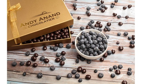 Andy Anand California Blueberry covered Vegan Rich Dark Chocolate Gift- 1 lb