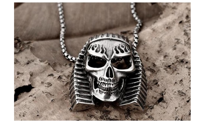 black grande skull collections badboy biker cz or eyes pendant stainless reaper jewellery silver grim pendants blue steel