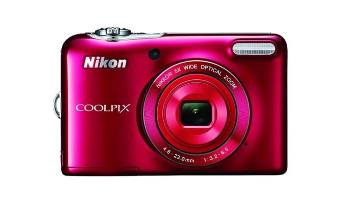 COOLPIX L32 20.1MP 720P HD Video w/ 5X Zoom Digital Camera (Refurb)
