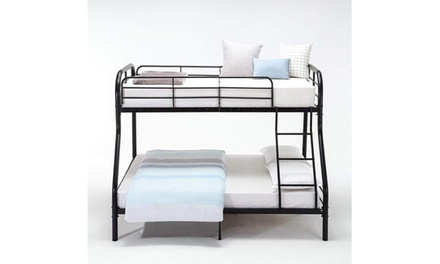 Kid Dorm Teen Bedroom Furniture Twin Over Full Metal Bunk Bed Frame